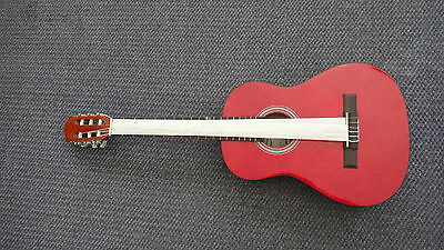 3/4 caraya classical guitar with EQ  red