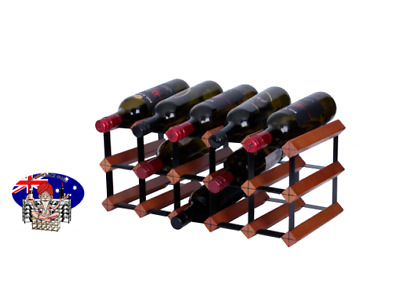 12 Or 15 Bottle Mahogany  Wine Rack ,100 % Australian Made