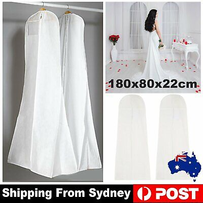 Extra Large White Wedding Dress Cover Bridal Gown Breathable Garment Storage Bag