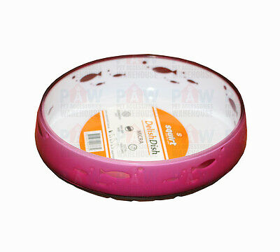 Squirt Delish Dish MICRA Premium Food Water Bowls for Cats Non Slip Base PINK