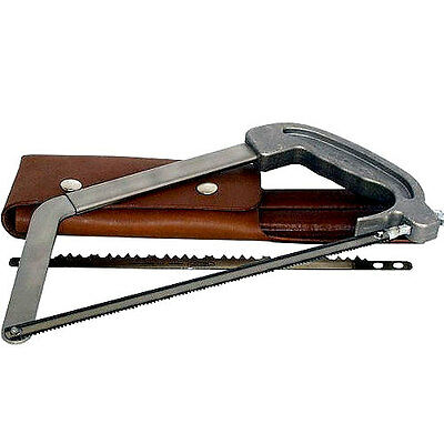 WYOMING Compact Outdoor Hunting Folding Saw w/leather case US made
