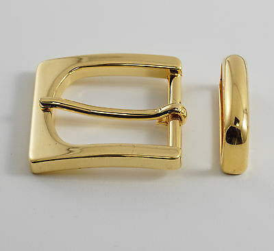 "Single pin 1 1/4"" belt buckle set(#9205AB)(gold color) w/metal keeper and rivets"