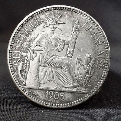 French Indochina Piastre De Commerce Goddess of Freedom Commemorative Coins New