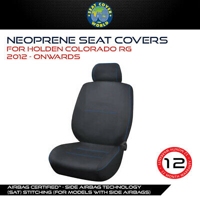 Holden Colorado RG 2012-on Premium Neoprene Waterproof Front & Back Seat Covers