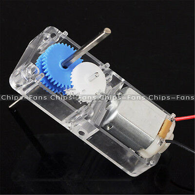 New 130 DC1.5-6V 1:94 Geared motor /w Box shell Case for DIY smart Robot Car
