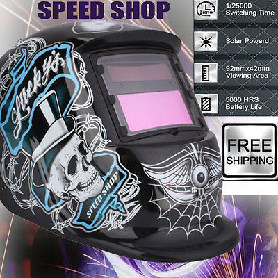 Intelligent Auto Darkening Welding Helmet Mask Welders Grinding Solar Powered UK