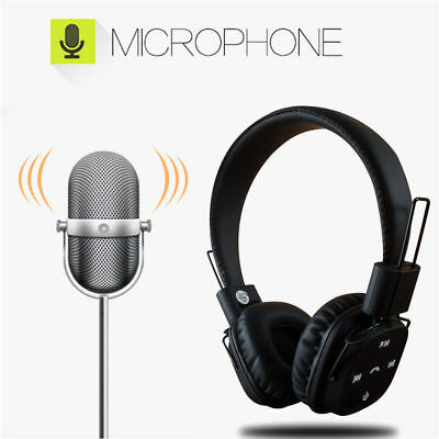 Foldable Bluetooth Wireless Headsets with MIC Super HIFI Bass Stereo Headphones