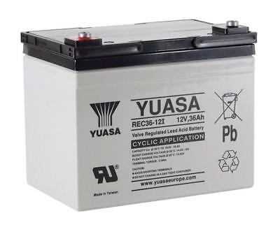 Yuasa REC36-12I Golf Trolley Battery, Replaces YPC33-12