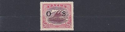 Papua  1931 - 32  S G 066A  2/6   Maroon & Bright Pink  Mh  Yellowed Gum
