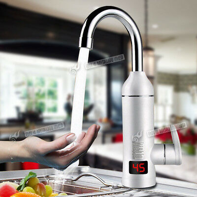 LED Digital Display Instant Heating Electric Water Heater Faucet Tap Hot & Cold