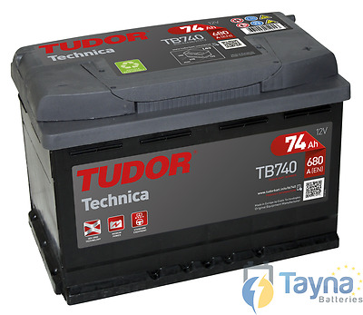 TB740 Exide Tudor Batterie de Voiture High Tech Carbon Boost 12V 74Ah