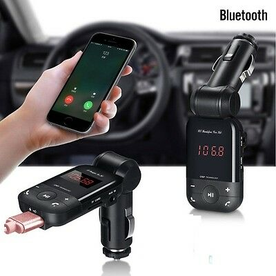 LCD Bluetooth Car Charger Kit Cigarette Lighter MP3 FM Transmitter USB Handsfree