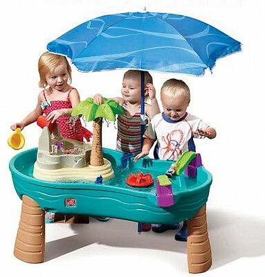 Step2 Splish Splash Seas Water Table with Umbrella Waterpark Kids Outdoor Play