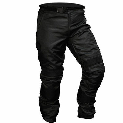 Brand New Motorcycle Waterproof Trousers CE Armoured Black Thermal Pant