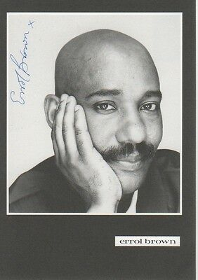 "Errol Brown ""Hot Chocolate"" Autogramm signed 10x15 cm Postkarte s/w"
