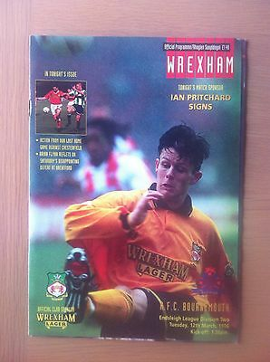 Wrexham V Bournemouth 1995-96