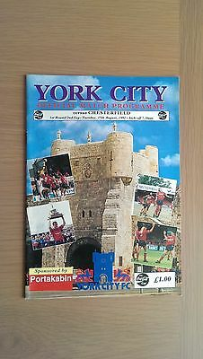 York City V Chesterfield 1992-93