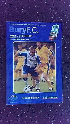 Bury V Brentford 1999-00