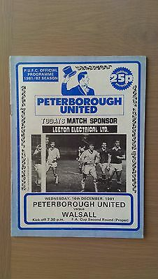 Peterborough United V Walsall 1981-82