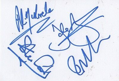 Stiff Little Fingers Autogramme full signed 10x15 cm Karteikarte