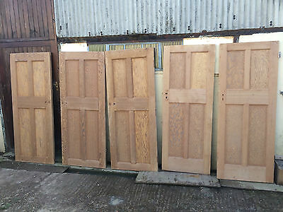 Reclaimed four panel internal solid wood beaded doors