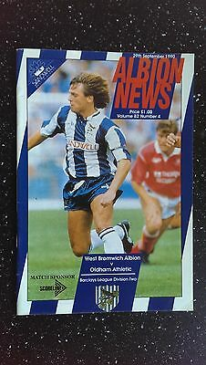 West Bromwich Albion V Oldham Athletic 1990-91