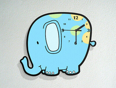 Cute Elephant Kids Nursery Room Decoration New Baby Birthday Wall Clock