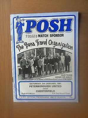 Peterborough United V Chesterfield 1980-81