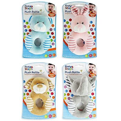 Cute plush baby girl boy unisex ring rattle toy gift 0+ bear rabbit elefant dog