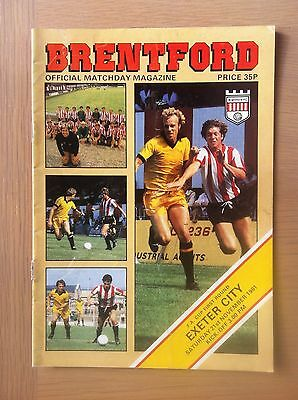 Brentford V Exeter City 1981-82