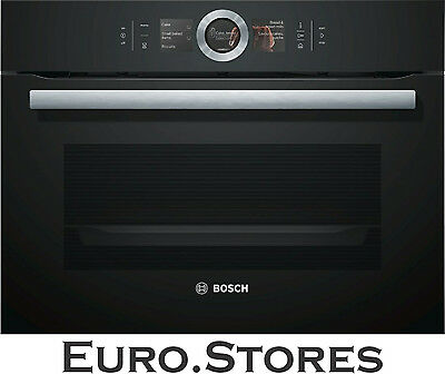 Bosch Series 8 CSG656RB6 Volcanic Black Built In Compact Steam Oven Genuine New