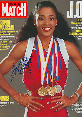 Florence Griffith Joyner signed 8x11 inch magzine-picture autograph
