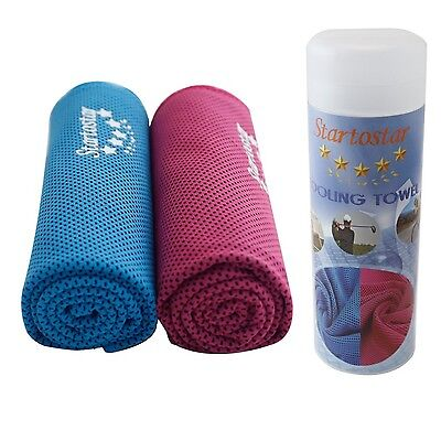 Startostar 2 Pack Instant Cooling Towel for Sports Fitness Gym & Golf (40 x 1...