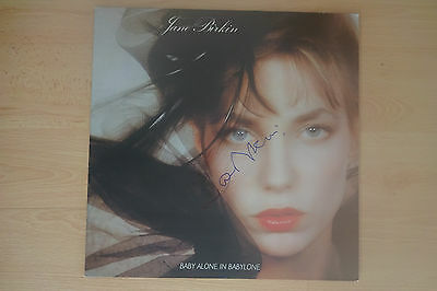 "Jane Birkin Autogramm signed LP-Cover ""Baby Alone In Babylone"" Vinyl"