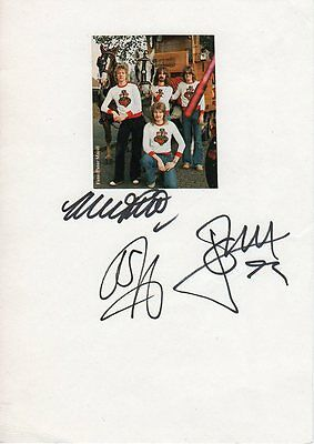 Barclay James Harvest Autogramme signed 15x21 cm Karteikarte mit ZB