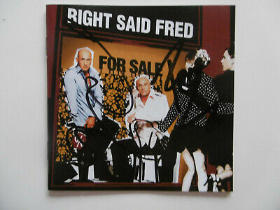 """Right Said Fred Autogramme signed CD Booklet """"For Sale"""""""