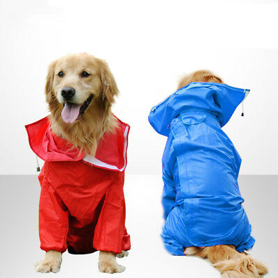 Large Dog rain coat waterproof outdoor hoodie golden Labrador Huskey Samoyed
