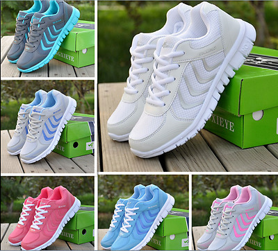 NEW Fashion RUNNING TRAINERS WOMEN'S WALKING SHOCK ABSORBING SPORTS SHOES