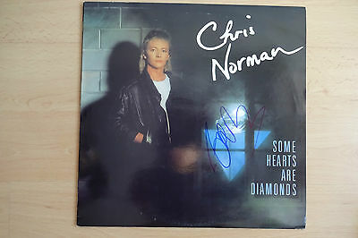 "Chris Norman Autogramm signed LP-Cover ""Some Hearts Are Diamonds"" Vinyl"