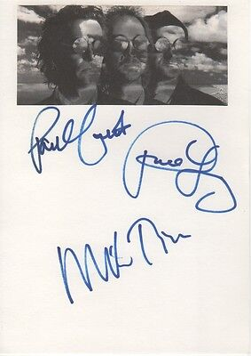 "Mike & the Mechanics ""mit Paul Young"" Autogramme signed 15x21 cm Karteikarte"