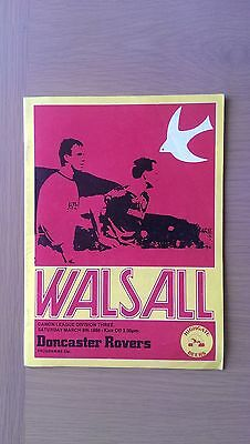 Walsall V Doncaster Rovers 1985-86