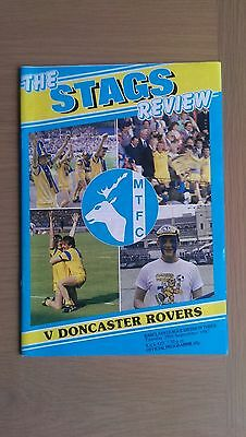 Mansfield Town V Doncaster Rovers 1987-88
