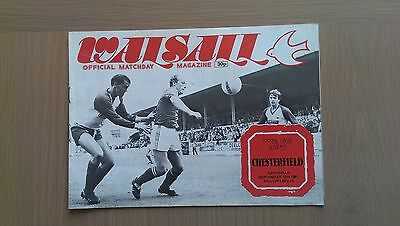 Walsall V Chesterfield 1981-82