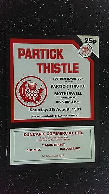 Partick Thistle V Motherwell 1981-82