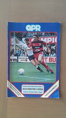 Queens Park Rangers V Manchester United 1988-89