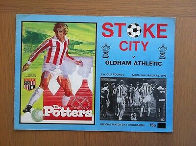 Stoke City V Oldham Athletic 1978-79