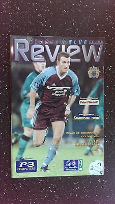 Burnley V Lincoln City 1998-99