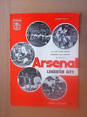 Arsenal V Leicester City 1972-73