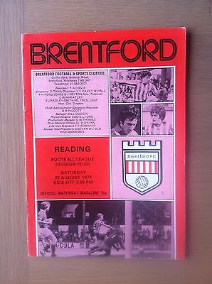 Brentford V Reading 1977-78