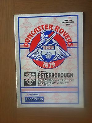 Doncaster Rovers V Peterborough United 1989-90